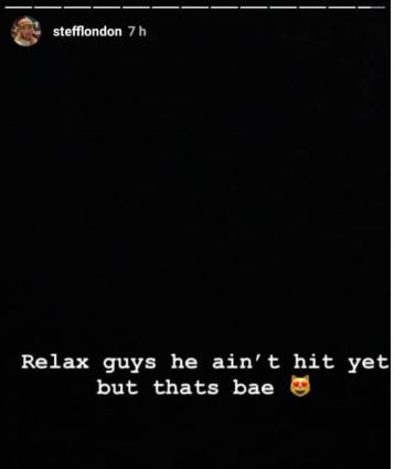 Burn Boy shares loved up video in bed with British rapper, Stefflon DOn and she confirms he's 'bea'