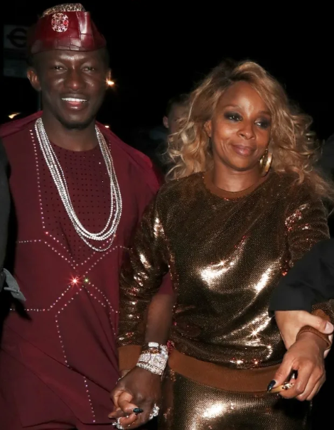 See the flamboyant 'African Prince' Mary J Blige is 'dating' as they are spotted holding hands (Photos)