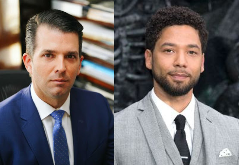 Donald Trump's son reacts to news of evidence suggesting Jussie Smollett orchestrated attack on him
