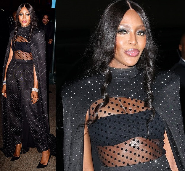 Naomi Campbell shows off stunning look to Marc Jacobs' star-studded wedding to his partner Char Defrancesco (Photos)