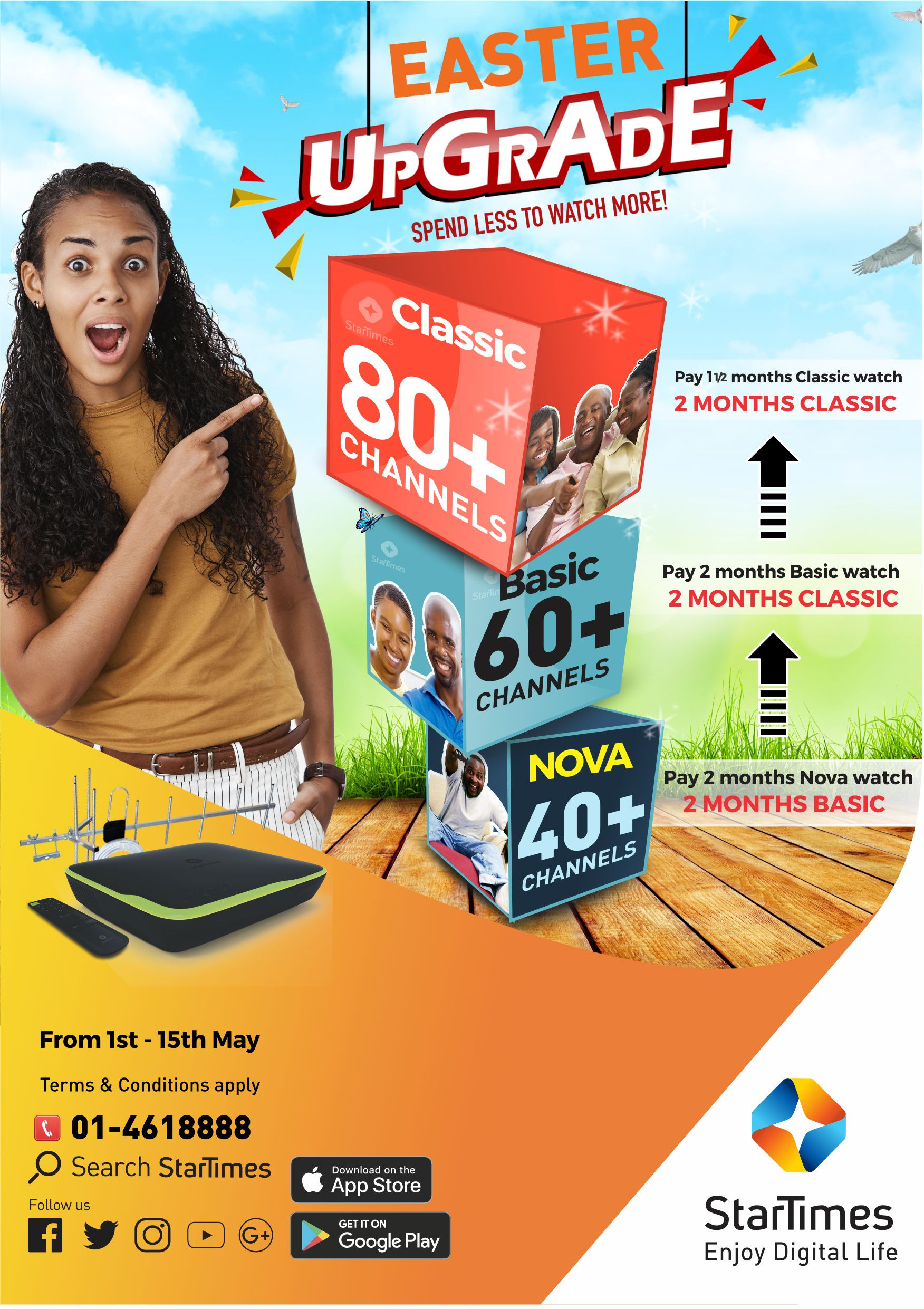 Get a free upgrade on your StarTimes bouquet this Easter