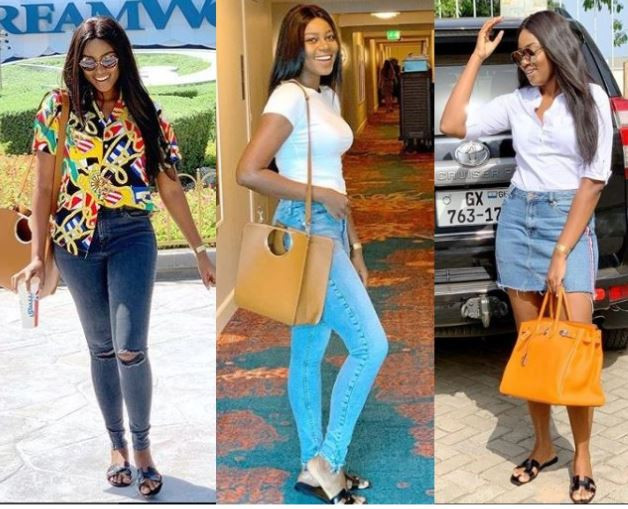 Between Yvonne Nelson and a fan who noticed she's rocked the same slippers four times