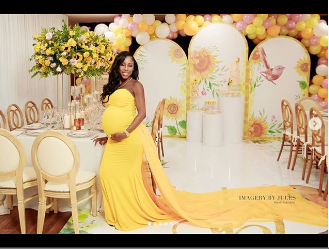Haitian model who is alleged to be pregnant with Future's 6th child holds her baby shower (Photos)