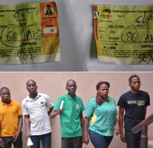 EFCC arrests 9 people fortrain ticket racketeering in Abuja andKaduna State