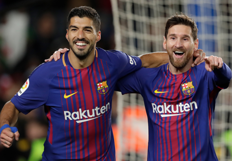 Messi and Suarez have scored more goals between them than eighteen of the 19 teams they have faced in La Liga this season