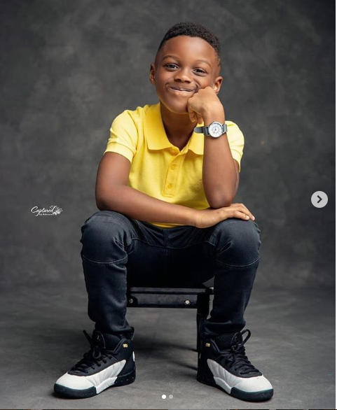 Singer, Paul and his wife Anita Okoye celebrate their son's 6th birthday with lovely photos