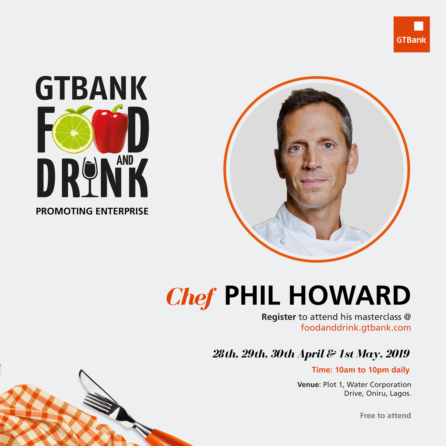 Award-winning Culinary Experts on the Line-up for the GTBank Food and Drink Festival Masterclass