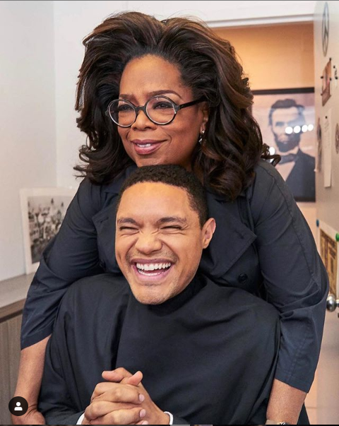Trevor Noah pictured with Oprah Winfrey in cute new photo