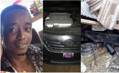'Call it alcohol, drugs, I call it glory and dodging another shot from witches and wizards' - Young boy writes after crashing his car 24hrs after buying it in Delta State