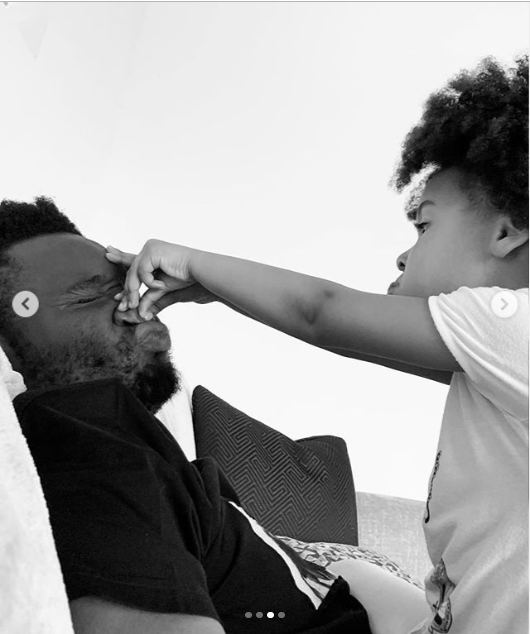 Adorable photos of Mikel Obi and one of his twin daughters playing around