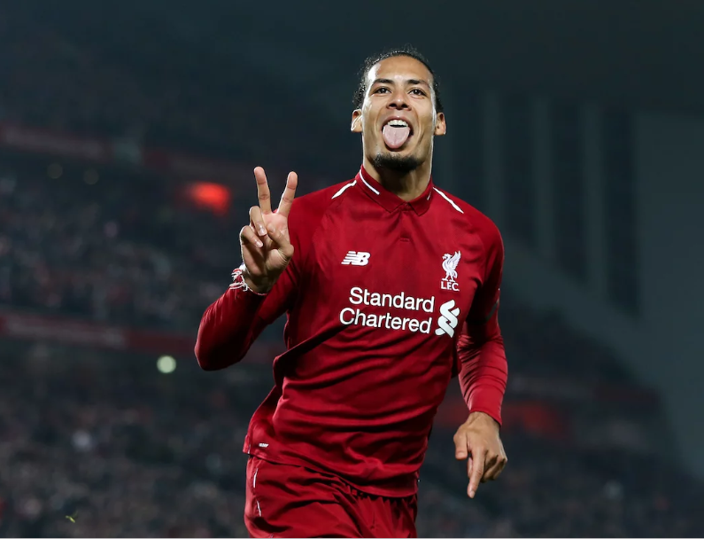 Liverpool defender Virgil van Dijk beats Manchester City's Raheem Sterling to be crowned PFA Players Player of the Year