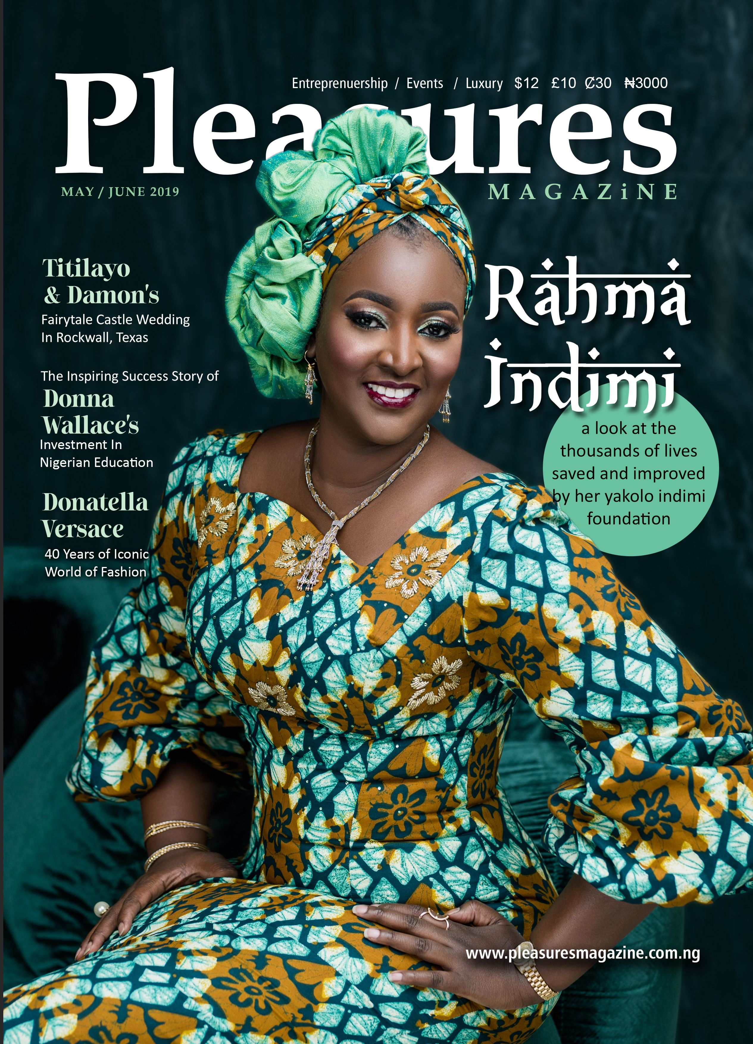 Rahma Indimi shares how She is fighting Poverty & Inequality as she Covers Pleasures Magazines May/June Issue