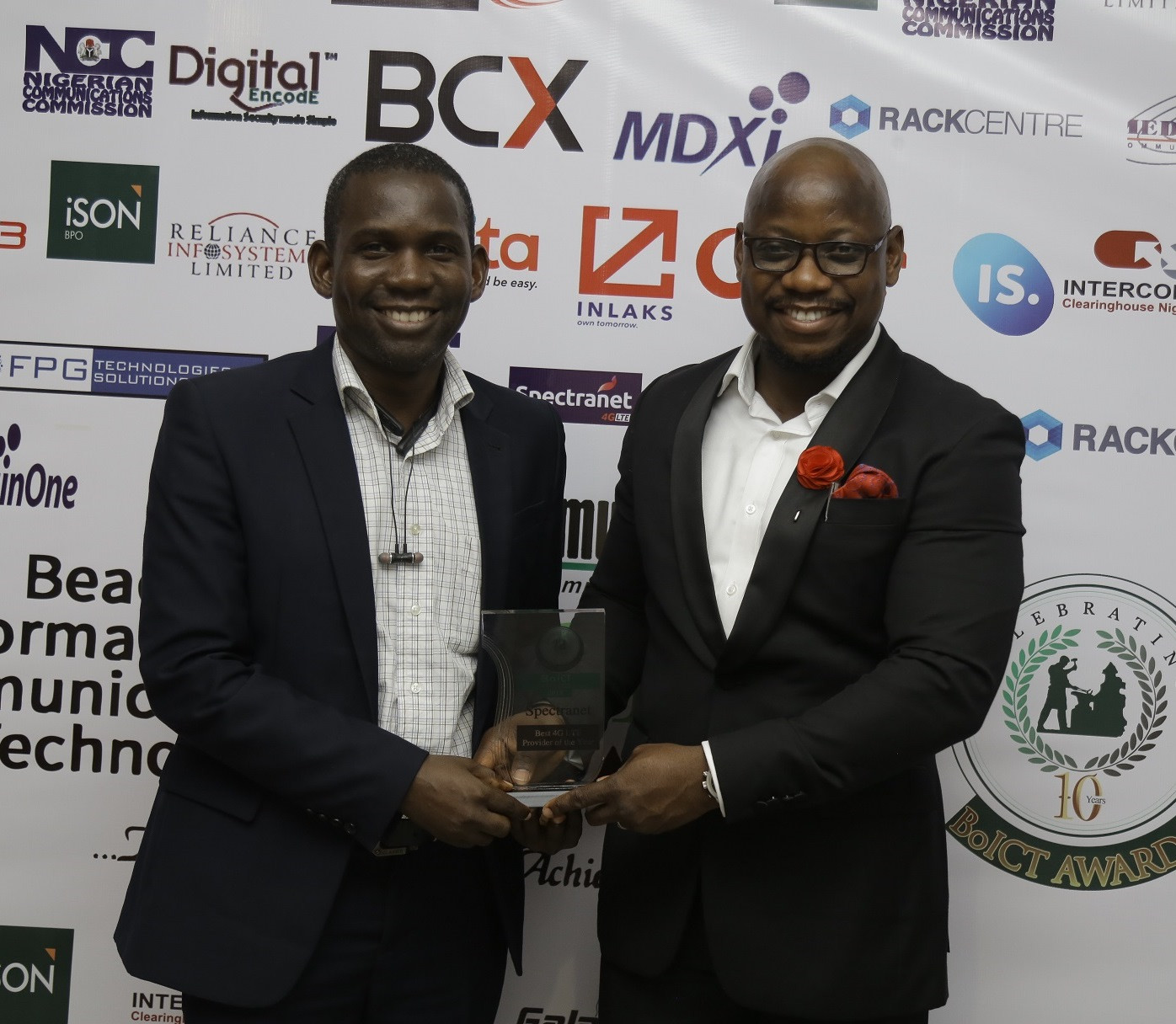 Spectranet Gets Best 4G LTE Recognition at BoICT Awards