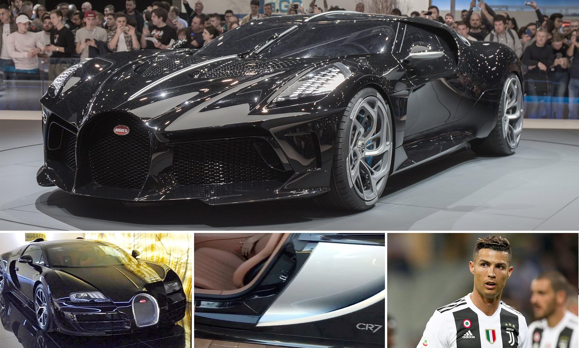Cristiano Ronaldo 'buys world's most expensive car' a 9.5m one-off Bugatti La Voiture Noire (Photos)