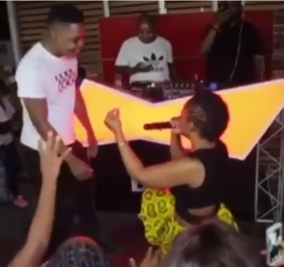 SA 'pantless dancer' Zodwa Wabantu, 33, proposes to her 24-year-old boyfriend with $43,000 diamond ring on stage (Video/Photos)