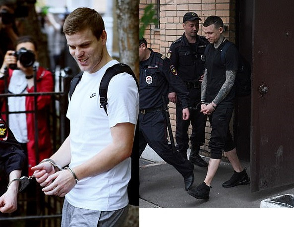 Update: Russian football stars Alexander Kokorin and Pavel Mamaev jailed a year and a half in prison for hooliganism