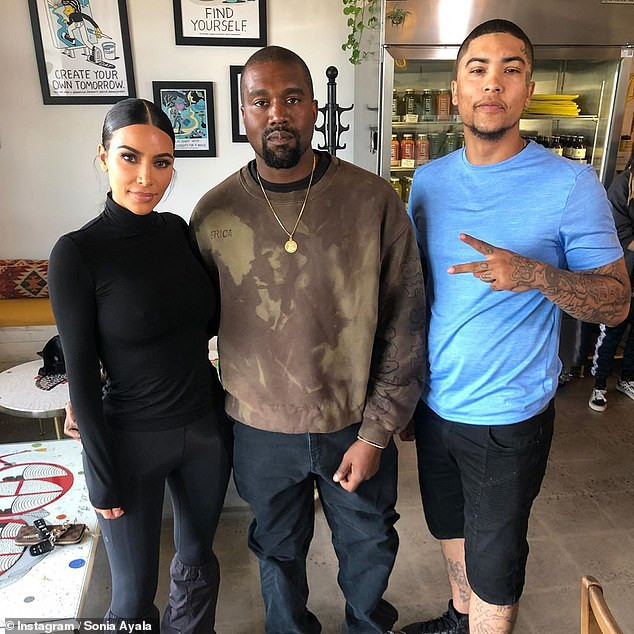 Kim Kardashian and Kanye West meet recently freed North Carolina man and promise to help remove his face tattoo(Photos)
