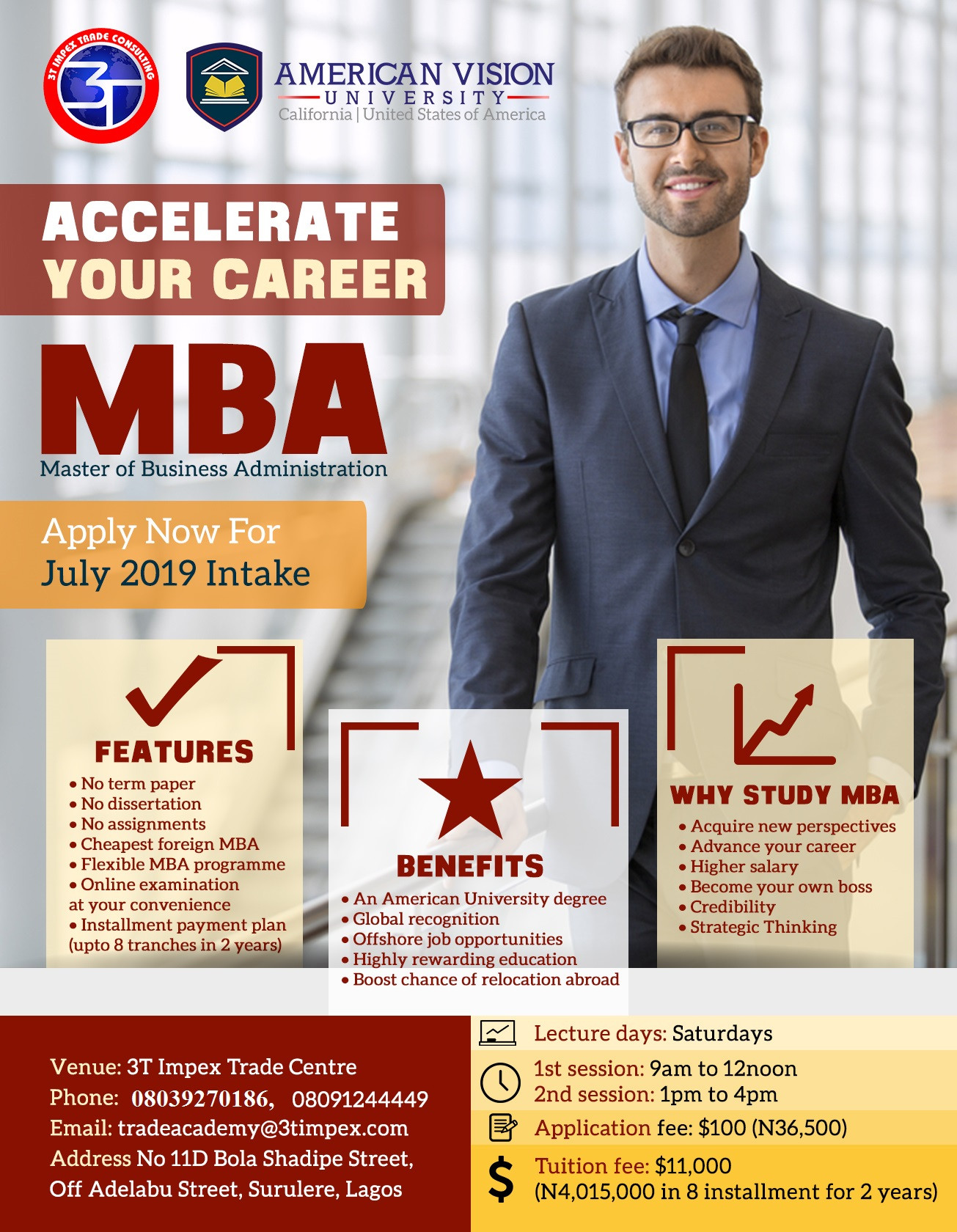Earn an American MBA degree without leaving Nigeria
