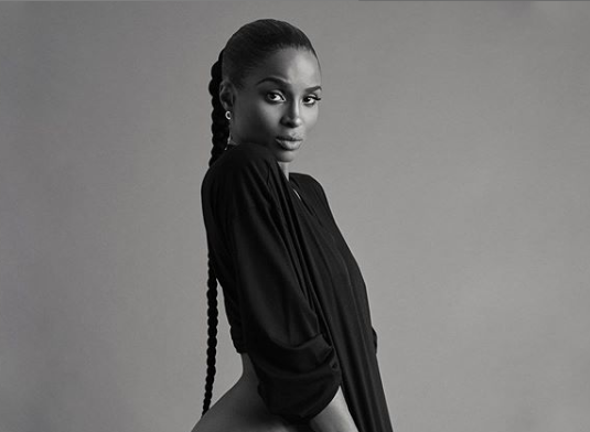 Singer, Ciara poses pantless in new racy photos to promote her new album 18+