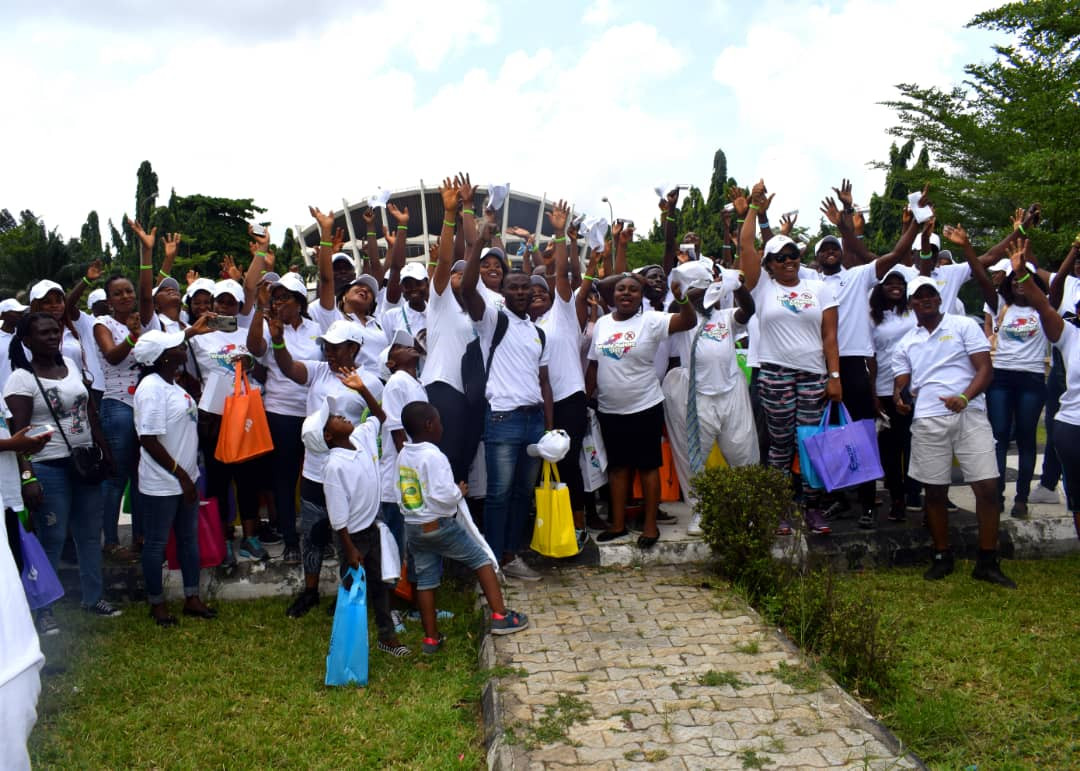 Hundreds Gathered To Walk Malaria Out with Meditol Nigeria