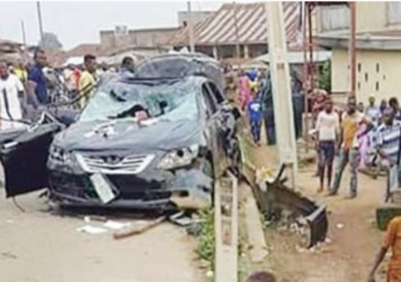 Four-year-old boy to death inside his parents compound by a car tht lost control in Lagos