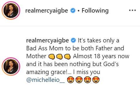 #MothersDay: Mercy Aigbe celebrates herself for playing the role of father and mother to her kids for the past 18-years