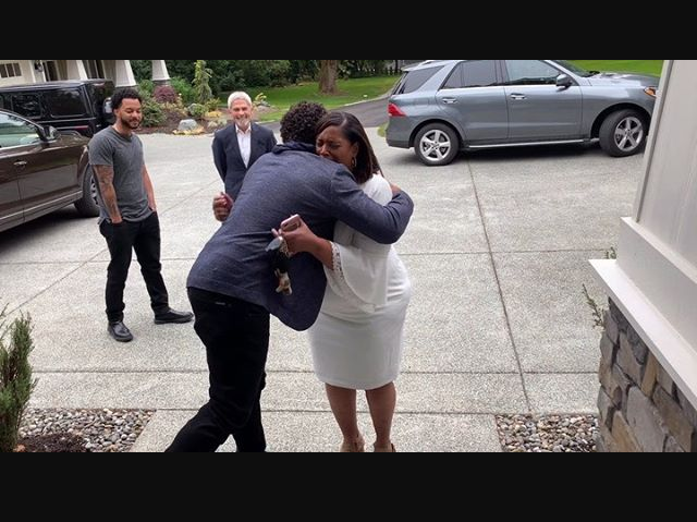 See the moment Russell Wilson's mom is reduced to tears as he surprises her with a new home on Mother's day (Video)