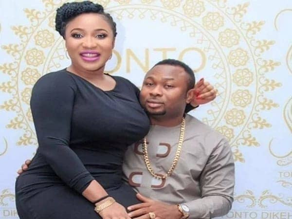 """Here is Tonto Dikeh's reaction after her ex-husband, Olakunle Churchill said he's a """"tireless machine in bed"""" (Screenshots)"""
