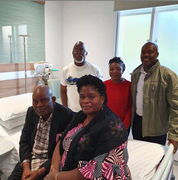 NFF releases photo of ex-Super Eagles coach, Christian Chukwu in London hospital where he's receiving treatment
