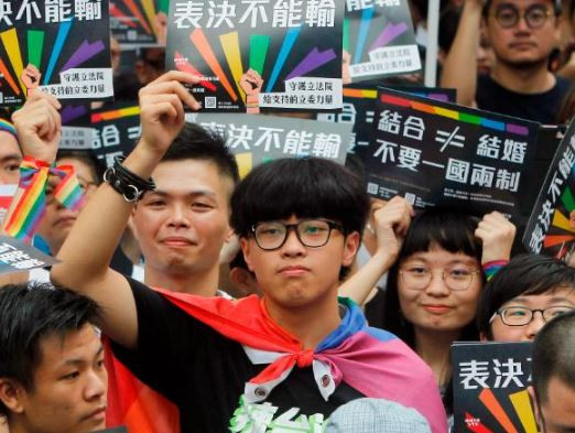 Taiwan becomes the first Asian country toapprovea bill legalizing same-sex marriage