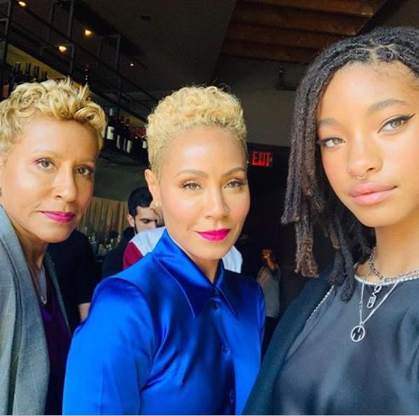 Stunning three-generation photo of Jada Pinkett-Smith, her mom and daughter