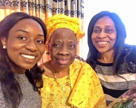 Olakunle Churchill shares photo of 3-generation of women in his life