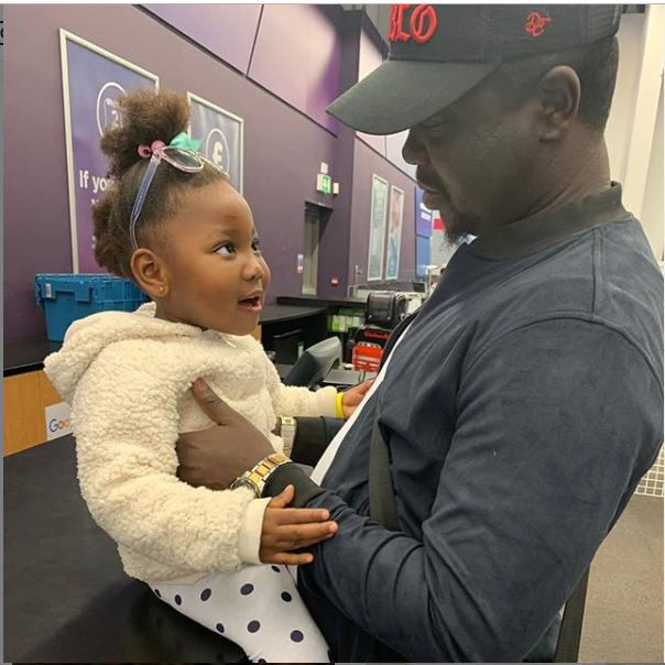 Adorable photo of Comedian Seyilaw and his daughter, Tiwa