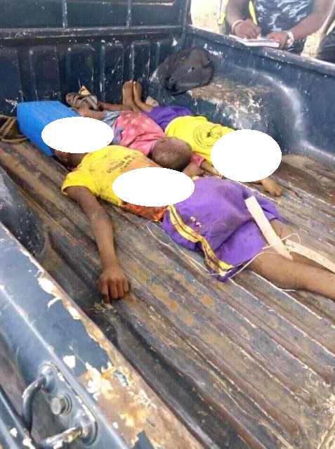Driver crushes 4 schoolchildren to death allegedly while using his phone and driving (graphic photos)