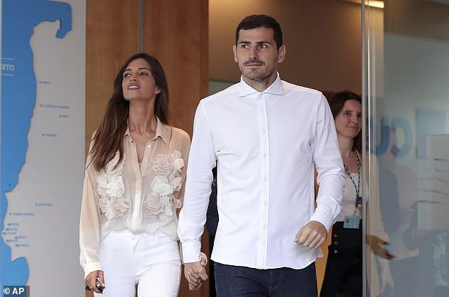 Football legend, Iker Casillas' wife reveals she's battling ovarian cancer weeks after Spanish keeper's heart attack