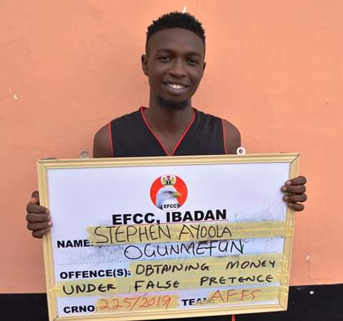 Young man all smiles as he three others bag jail terms for internet fraud in Abeokuta
