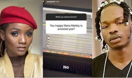 Simi breaks her silence on Naira Marley arrest