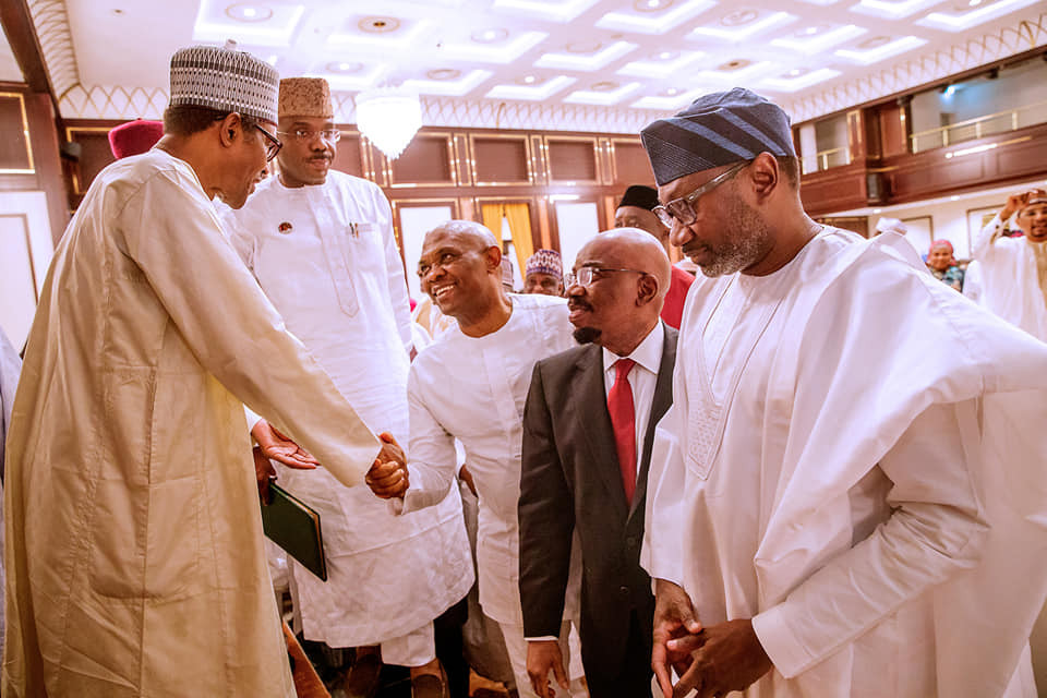 President Buhari hosts business community and APC NWC to break of Ramadan fast at thestate house