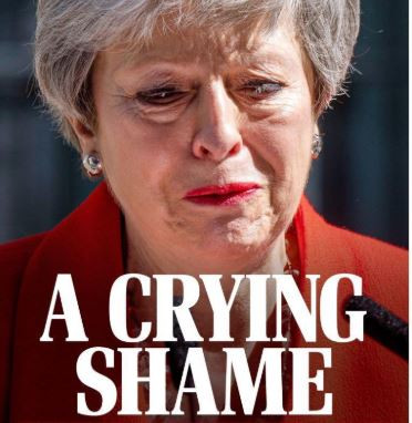 Photos: Here's how UK newspapers reported Theresa May's resignation