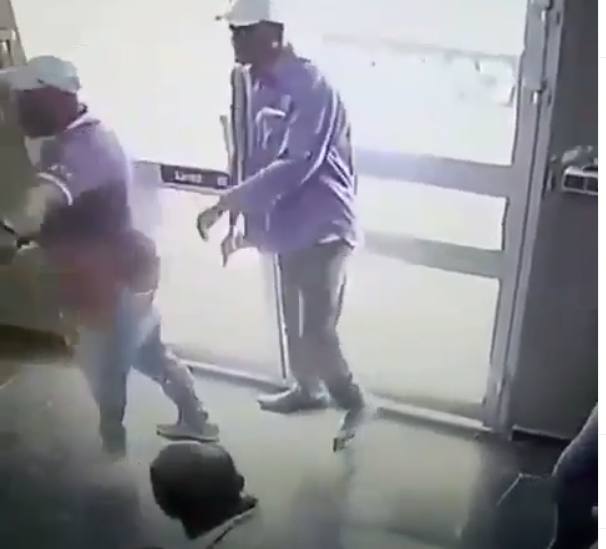 Viral video of handicap robbers raiding a shop in Cameroon