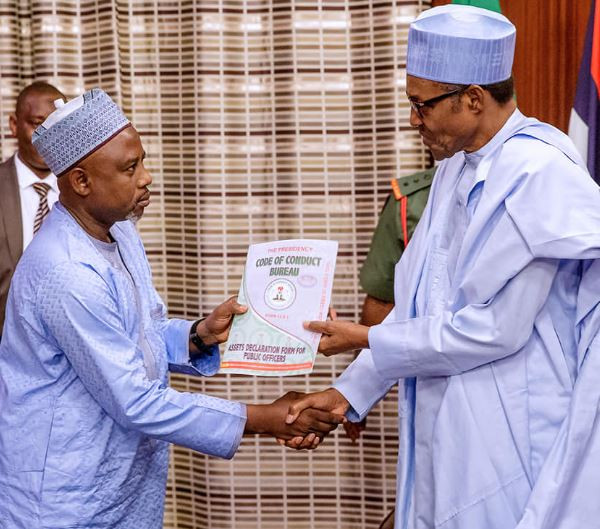 President Buhari submits assets declaration forms ahead of May 29th swering-in ceremony