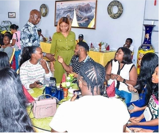 See the moment Regina Daniel introduced her 'ex' Somadina to her billionaire husband, Ned Nwoko (Photos)