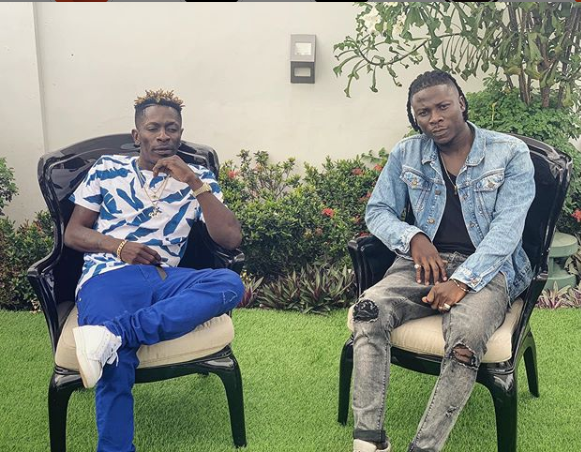 Shatta Wale and Stonebwoy squash their beef as they meet for peace talks after public brawl at Ghana music awards (Photo)