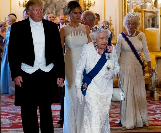 'The Queen hasbeen fantastic' -Trump tweets his praise for the Royal Family as he attends State Banquet at the Palace (Photos)