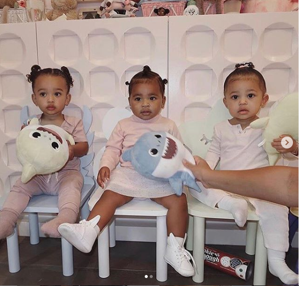 Check out these cute incredibly photos of Chicago West, True Thompson & Stormi Webster posing together