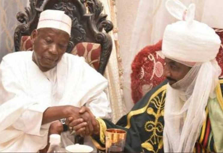 Kano State anti-corruption commission tells Governor Ganduje to suspend Emir Sanusi for misappropriating N3.4 Billion