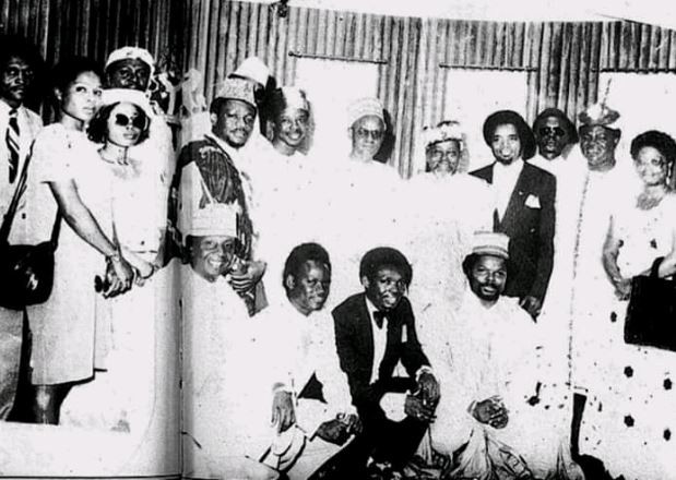 Epic Throwback Photo from a meeting between the founding members of PMAN and President Shehi Shagari in 1982