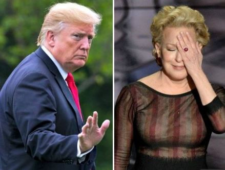 President Trump calls actress Bette Midler a 'washed up psycho' after she shared a fake quote