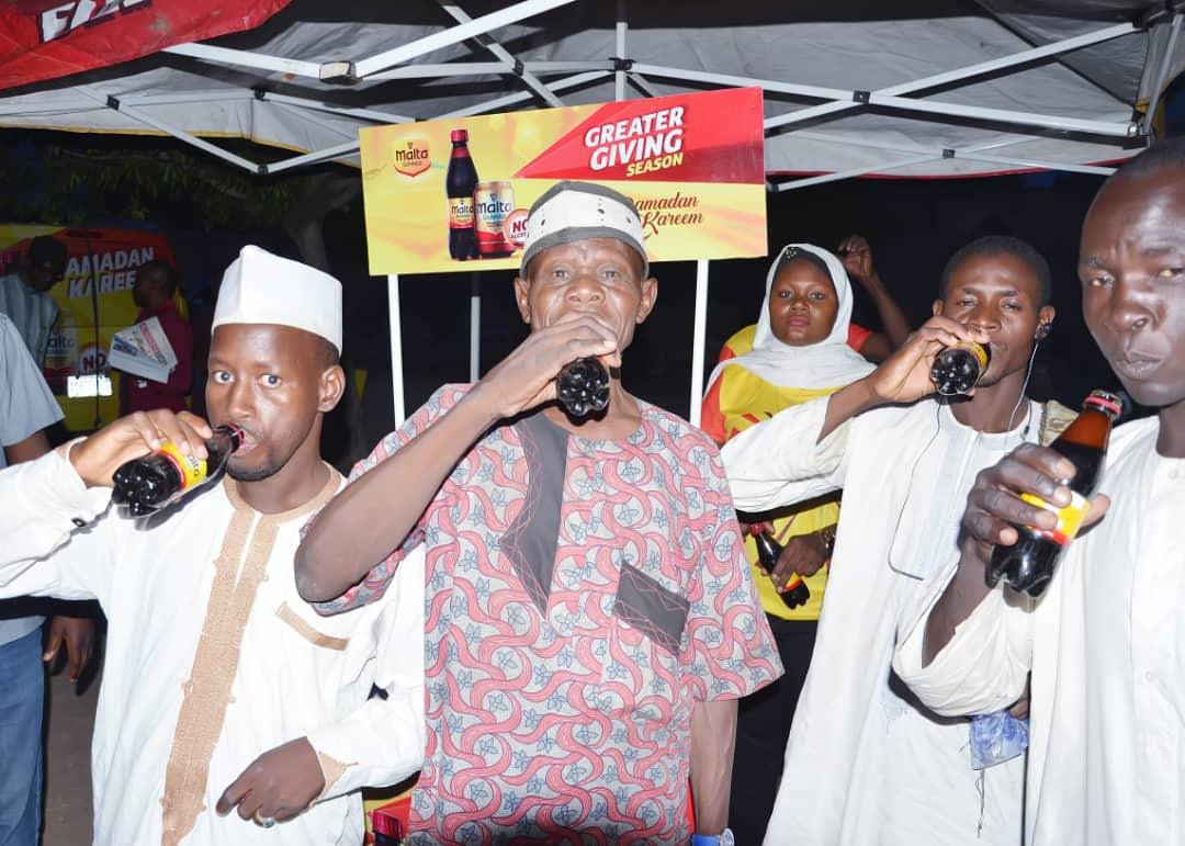 Muslims in Kano enjoy the goodness and vitality of Malta Guinness this Ramadan