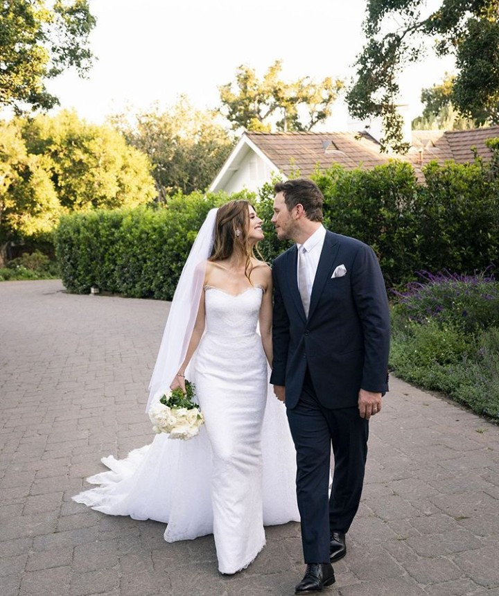 Chris Pratt and Arnold Schwarzenegger's, daughter, Katherine, are married. See first photo from their wedding